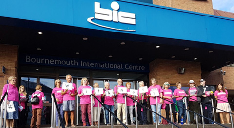 Supporters outside BMA in Bournemouth