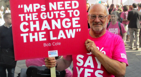 Mick Murray supporting the campaign